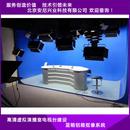 校园演播室装修场景实景演播室搭建系统录音棚新闻访谈虚拟演播室