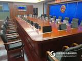 志歐無紙化會議系統高清觸摸屏一體機升降器會議桌