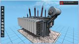 220kV三相一體油浸式變壓器三維仿真實訓系統,電力系統模擬教學培訓