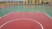 室外环保篮球场硅PU地面 网球场丙烯酸球场