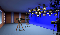校园电视台、演播室布光设计特点