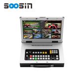 S08PRO 8通道教育導播臺教育切換臺廣播級錄播直播一體機高清6路SDI2路HDMI推拉流帶屏幕臺標字幕時間