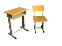 培訓桌椅報價鋼木結構學生課桌椅圖片