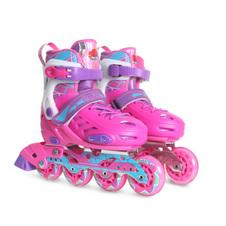 【美洲狮COUGAR】CR1溜冰鞋儿童平花轮滑鞋男女旱冰鞋直排轮滑 粉色