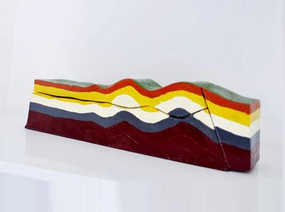 断裂构造及地貌岩石模型