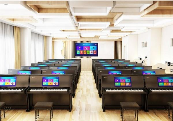 小知大数智慧电钢琴教室解决方案,教育变革浪潮下的新突破
