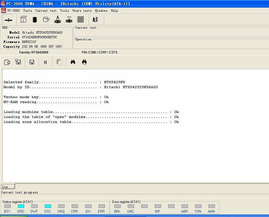 日立笔记本硬盘G表损坏的数据恢复解决方案