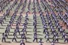 贵州省:黔西长堰中学武术进校园活动