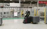 欧铠重型堆垛举升式激光叉车AGV可举升1吨7米