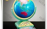 天朗紫微供應教育教學專用語音32cm地球儀擺件印象海洋  (銀色支架)