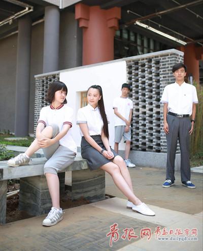 """青岛中小学校服""""一校一款""""时代到来"""